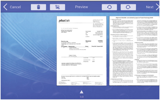 Scan Preview Before File Transfer